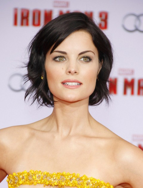Jaimie Alexander Short Hairstyle for 2014 - Short black hairstyle with waves