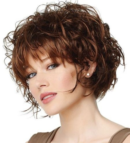 Short curly haircut for thick hair