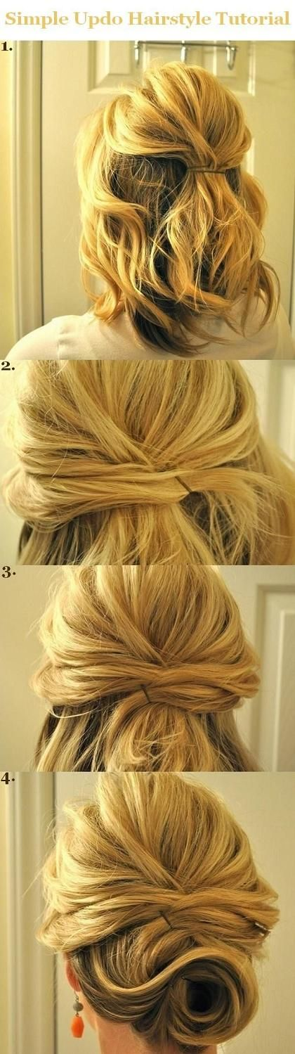 Simply pinned hair