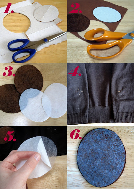 Elbow patches without sewing