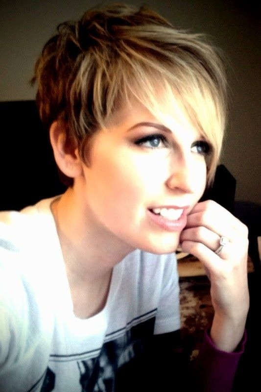 Layered pixie haircut
