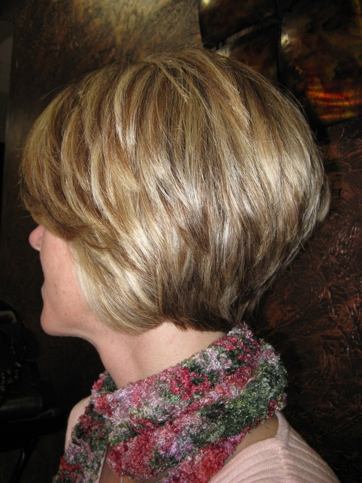 Stacked Bob Haricut for women over 40