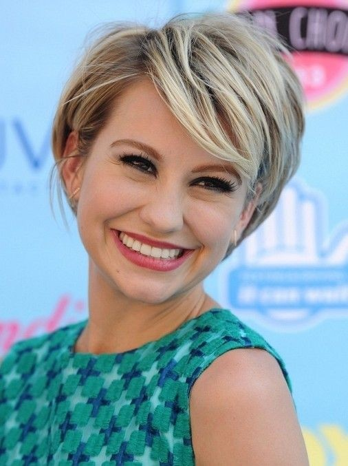 Chelsea Kane short hairstyle with bangs