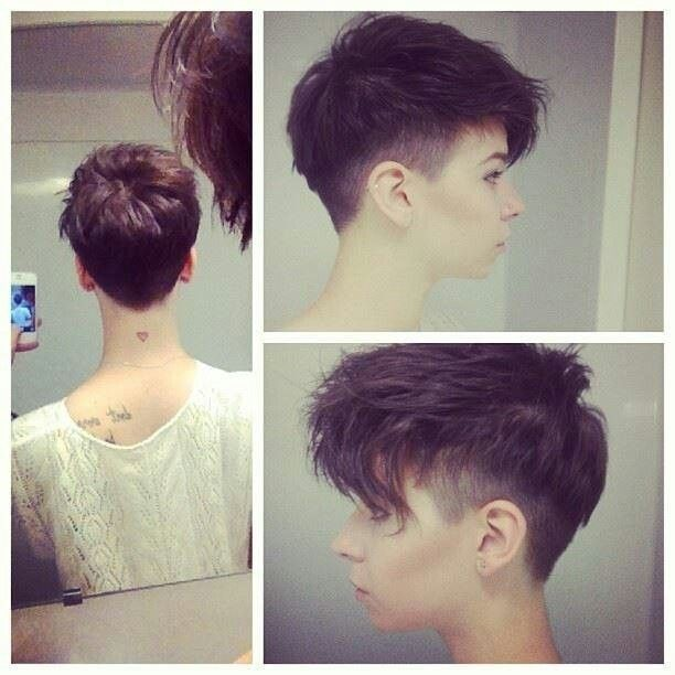 Simple pixie with undercut