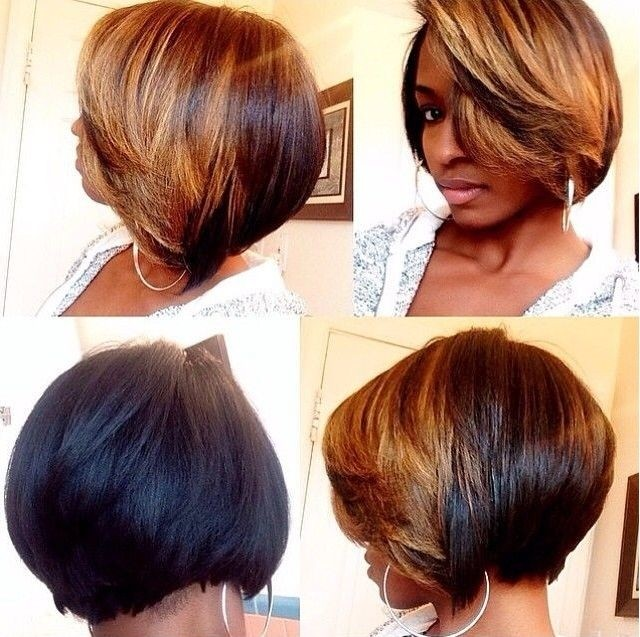 Bob haircut for black women