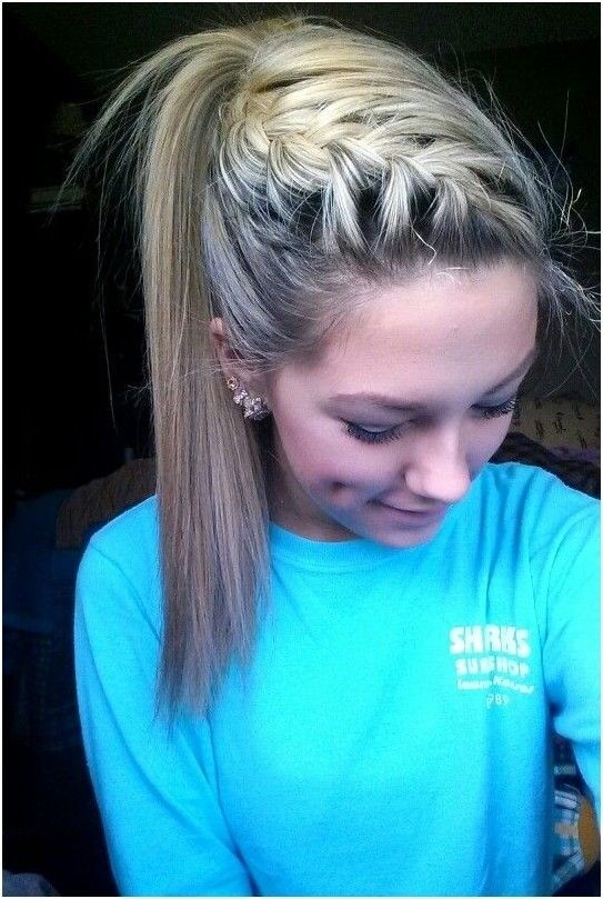 French braid in high ponytail