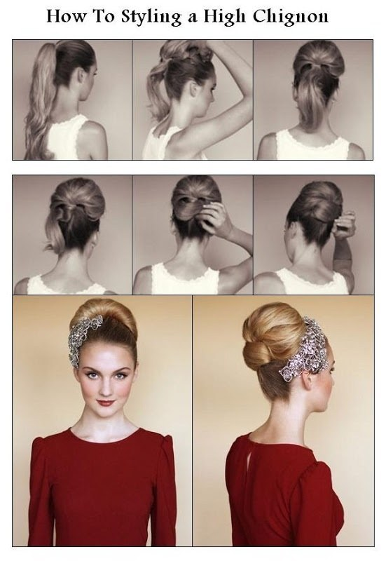 An Audrey Hepburn-Esque High Chignon