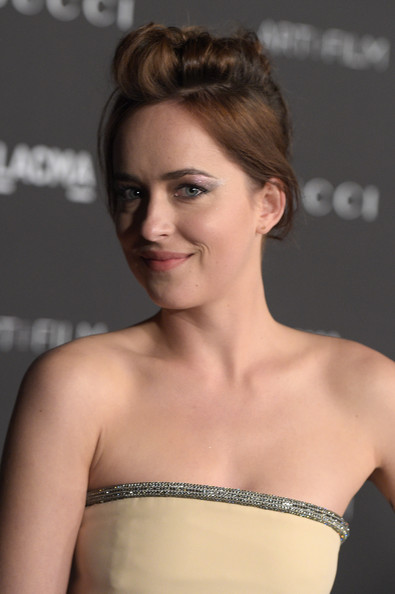 Dakota Johnson teased updo