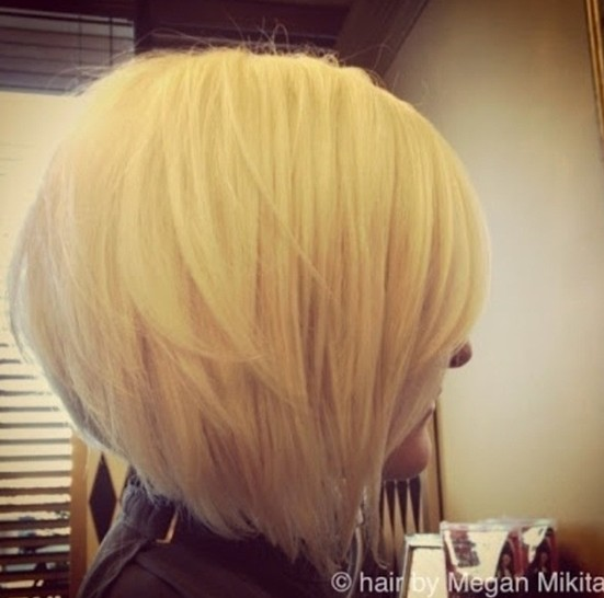 Short blonde stacked bob hairstyles