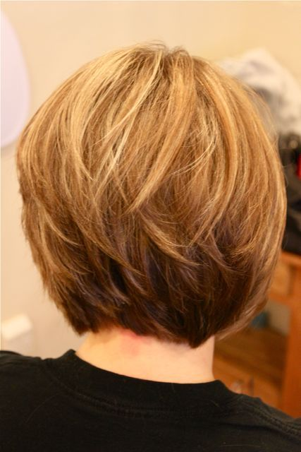 Rear view of stacked bob hairstyles