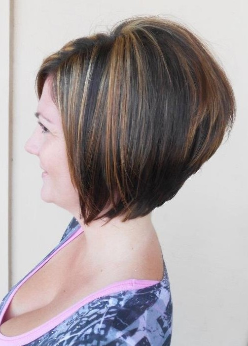 Side view of the A-line bob haircut