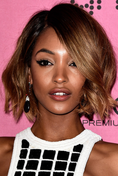 Jourdan Dunn Curly Short Bob