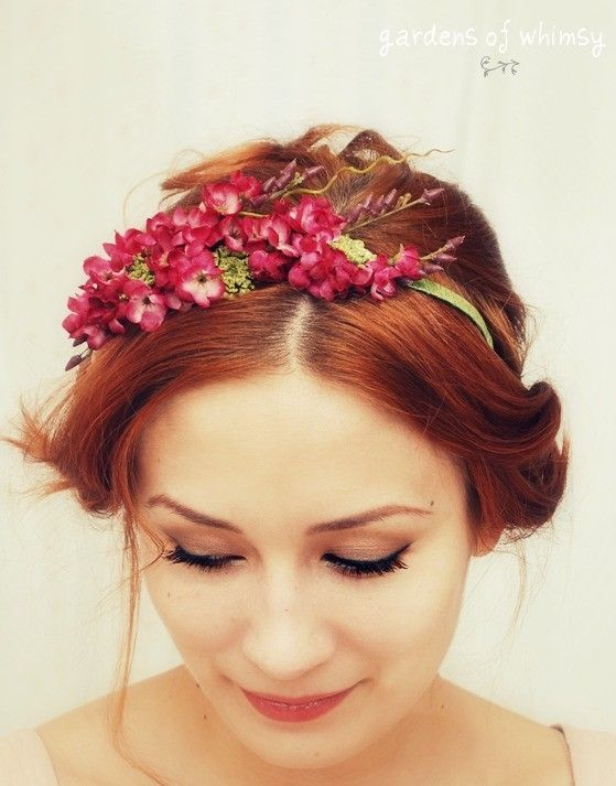 Turn with a flower crown