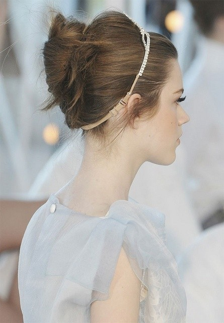 Twisted bun hairstyle for the wedding