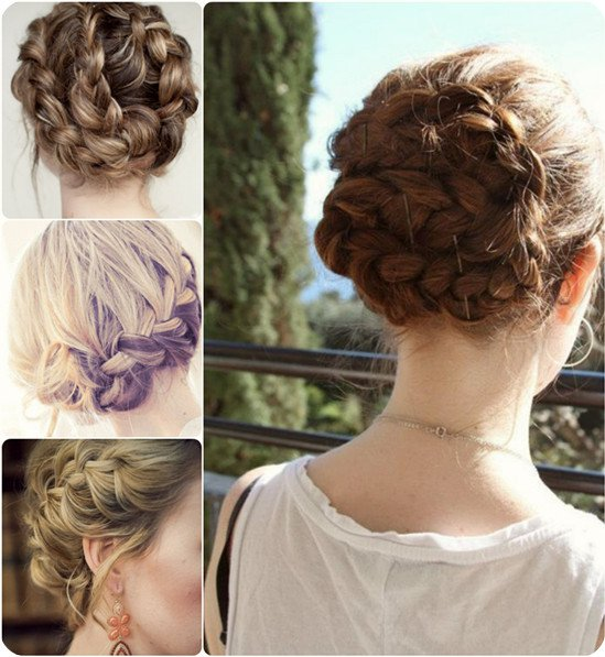 Pretty braided updo for the vacation