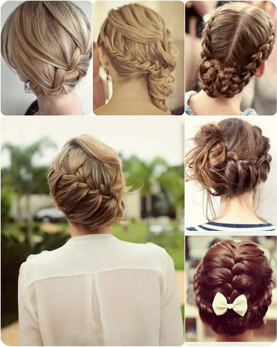 Beautiful braided updo for Christmas