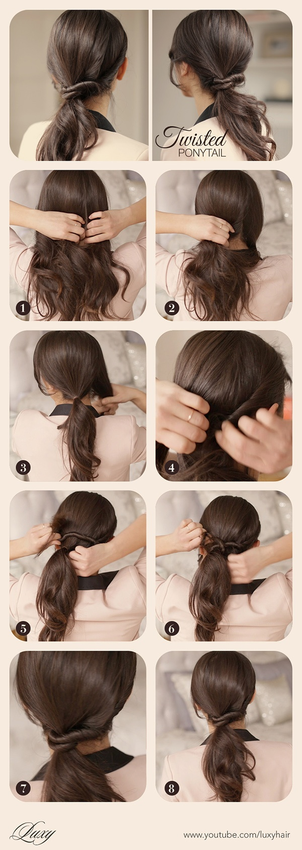 """Ponytails with simple twists """"width ="""" 458 """"class ="""" size-full wp-image-43089"""