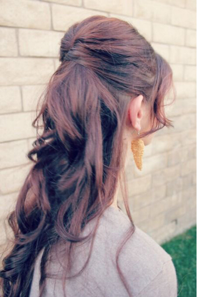 Half up hairstyle