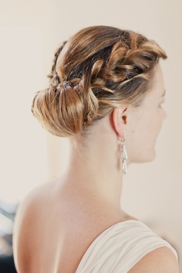 Graceful braided updo hairstyle