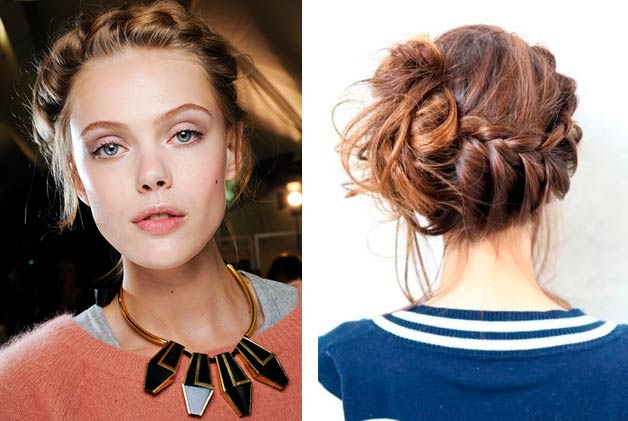 Chic braided updo hairstyle
