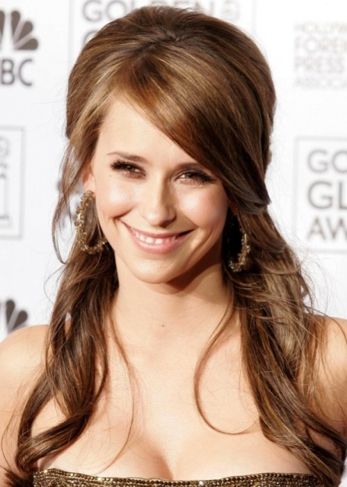 Jennifer Love Hewitt Half Up Half Down Hairstyle