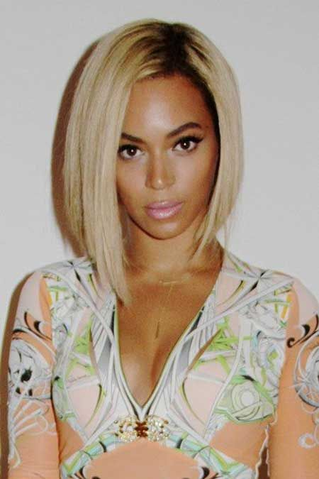 Blonde bob hairstyle for black women