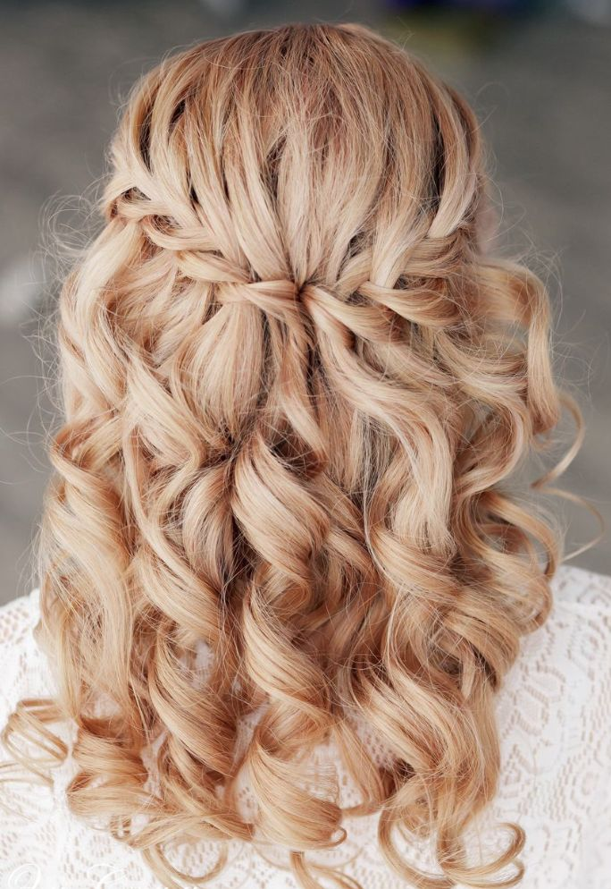 Fabulous waterfall braid for long straight hair