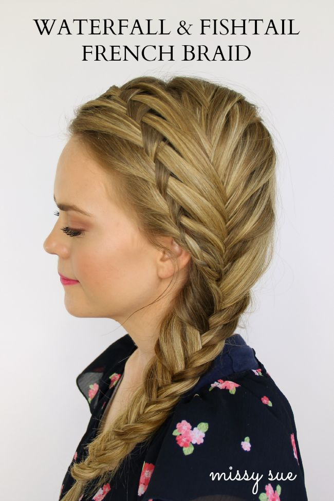 French braid waterfall and fishtail