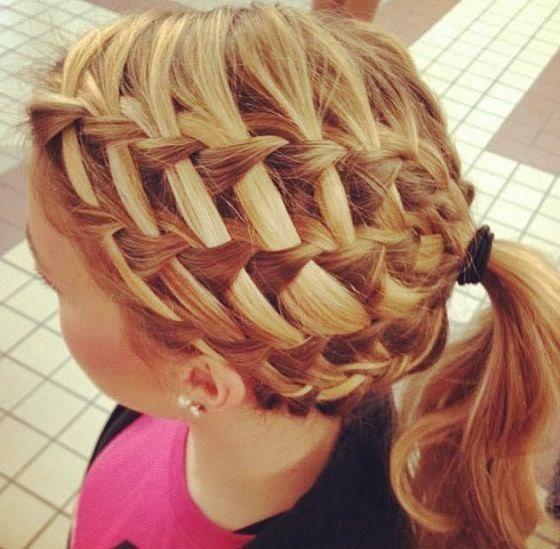 Waterfall braided pony for little girls