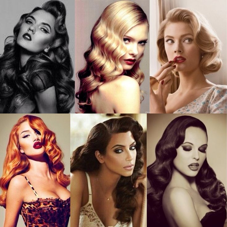 Sensual retro curly hairstyle