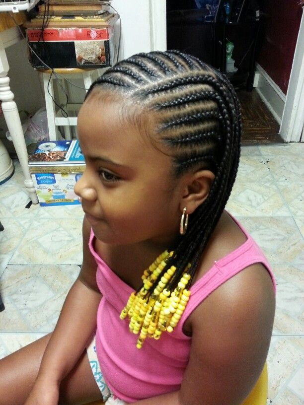 Nice braided hairstyle for kids