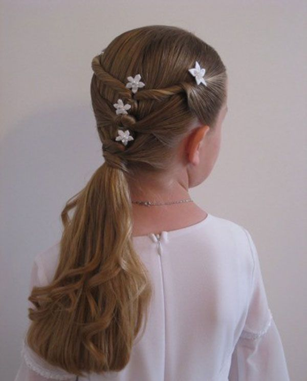 Fun braided hairstyle for kids