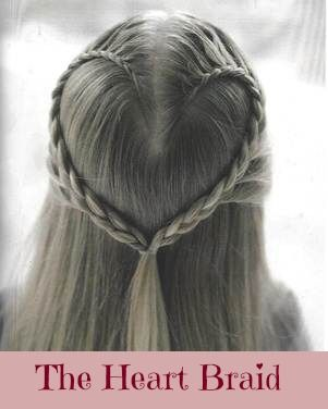 Heart braided hairstyle for kids