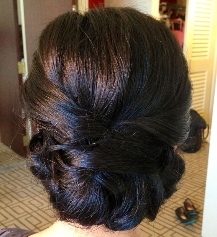 Elegant updo for Asian hairstyles
