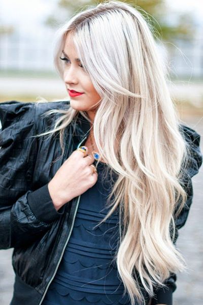 Super long hairstyle with bangs and layers