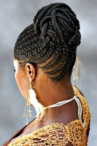 Natural African braid style