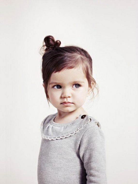 Small bun hairstyle for little girls