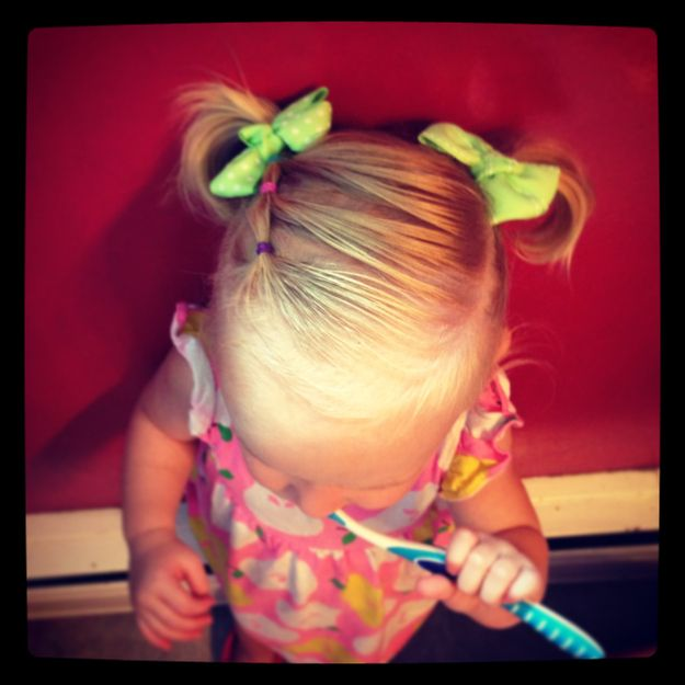 Nice braid hairstyle for little girls