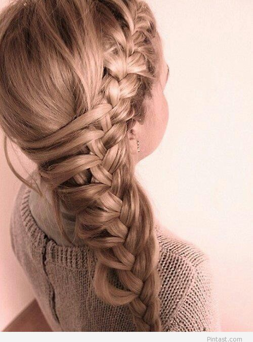 Amazing braided hairstyle for little girls