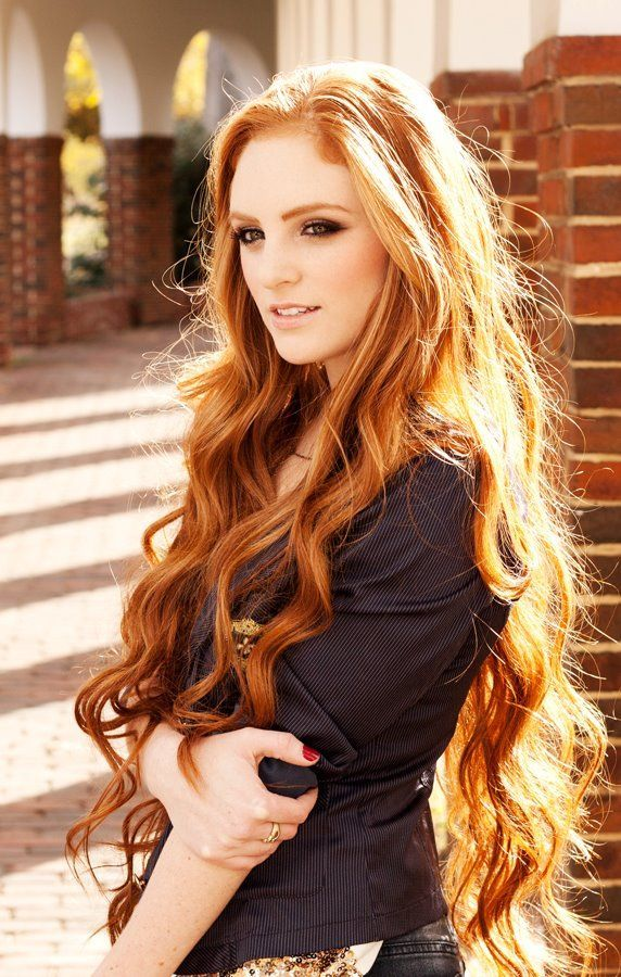 Stylish curly hairstyle for long hair