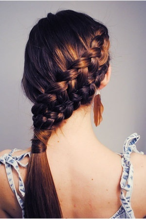 Stunning French braid hairstyle