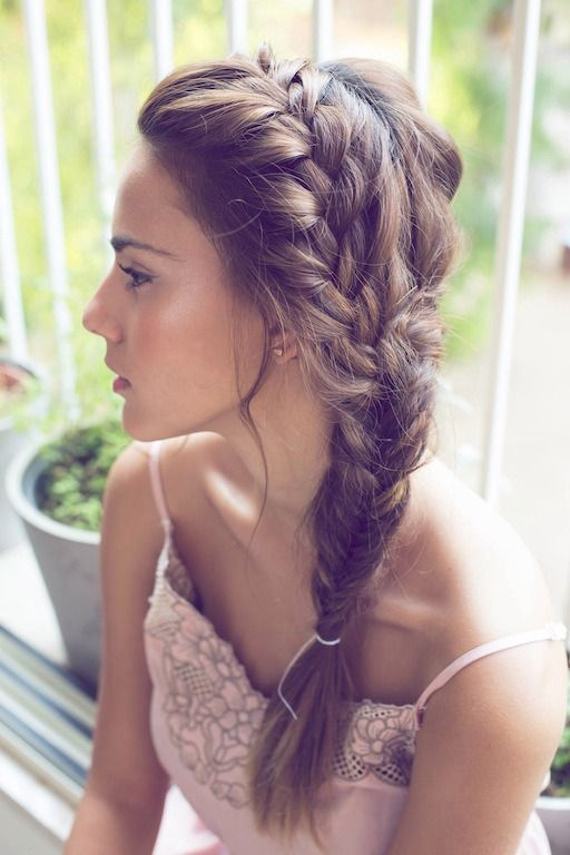 Pretty French braid hairstyle