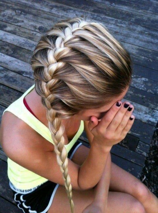 French braid ponytail hairstyle
