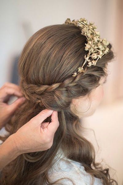 French braided headband hairstyle