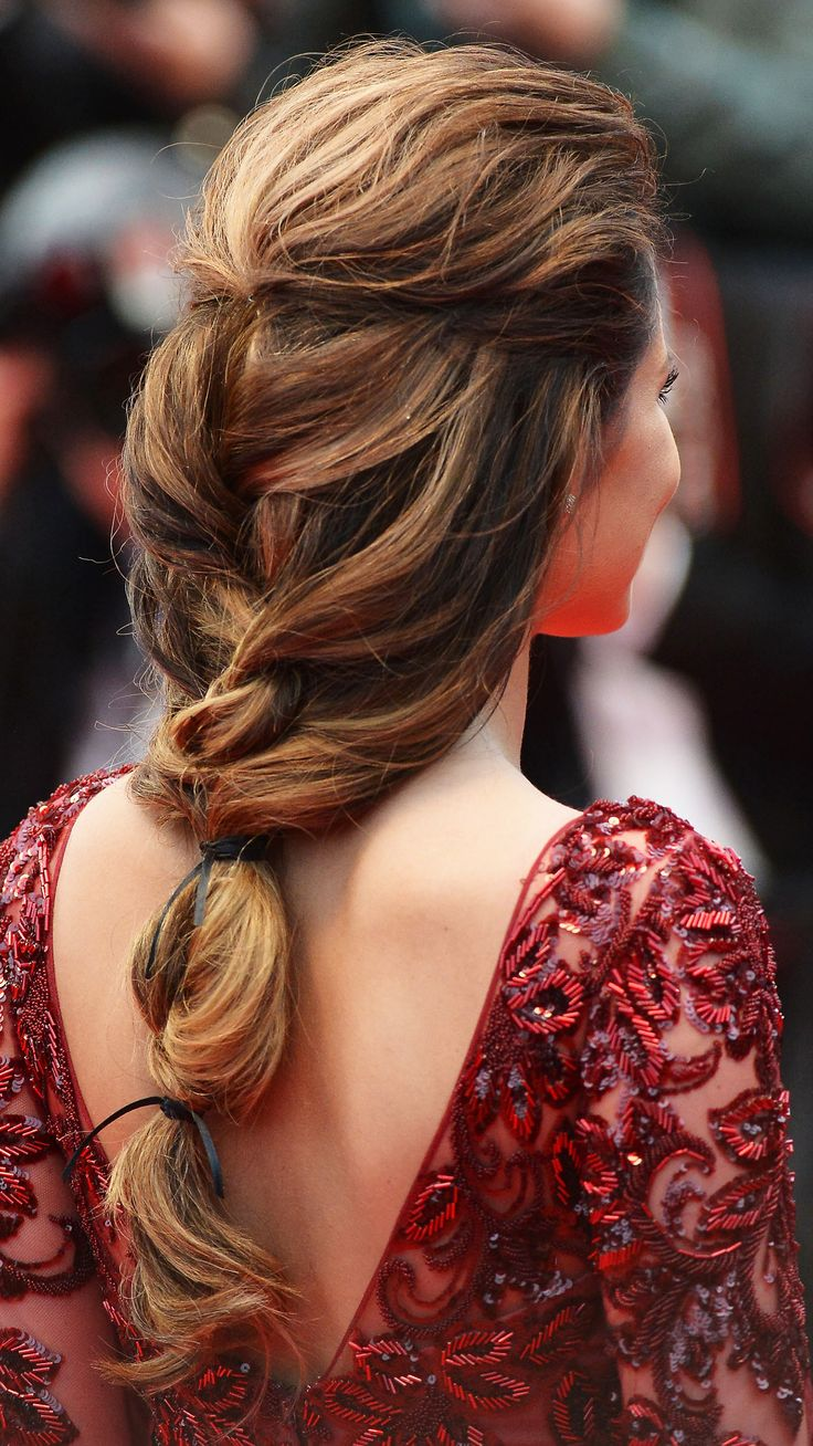 Beautiful French braid hairstyle