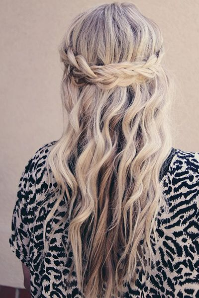 Nice french braided headband hairstyle