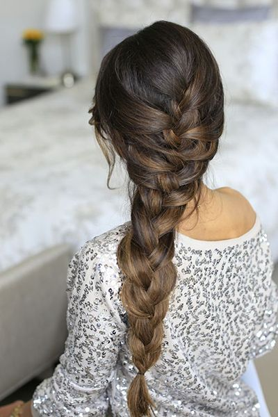 Chic French braid hairstyle