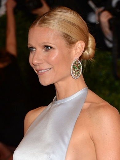 Sleek Low Bun - Gwyneth Paltrow Hairstyles