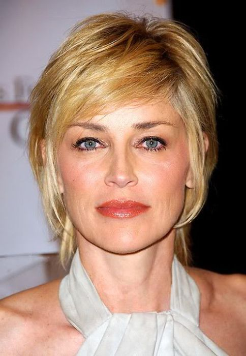 Sharon Stone short hairstyle