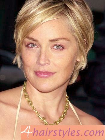 Beautiful Sharon Stone short hairstyle
